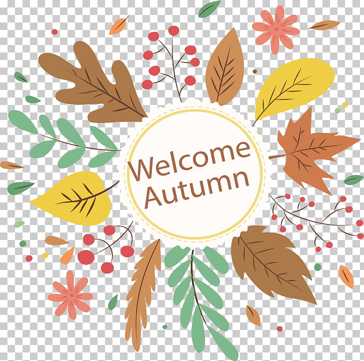 Autumn Euclidean Computer file, Welcome to fall PNG clipart.