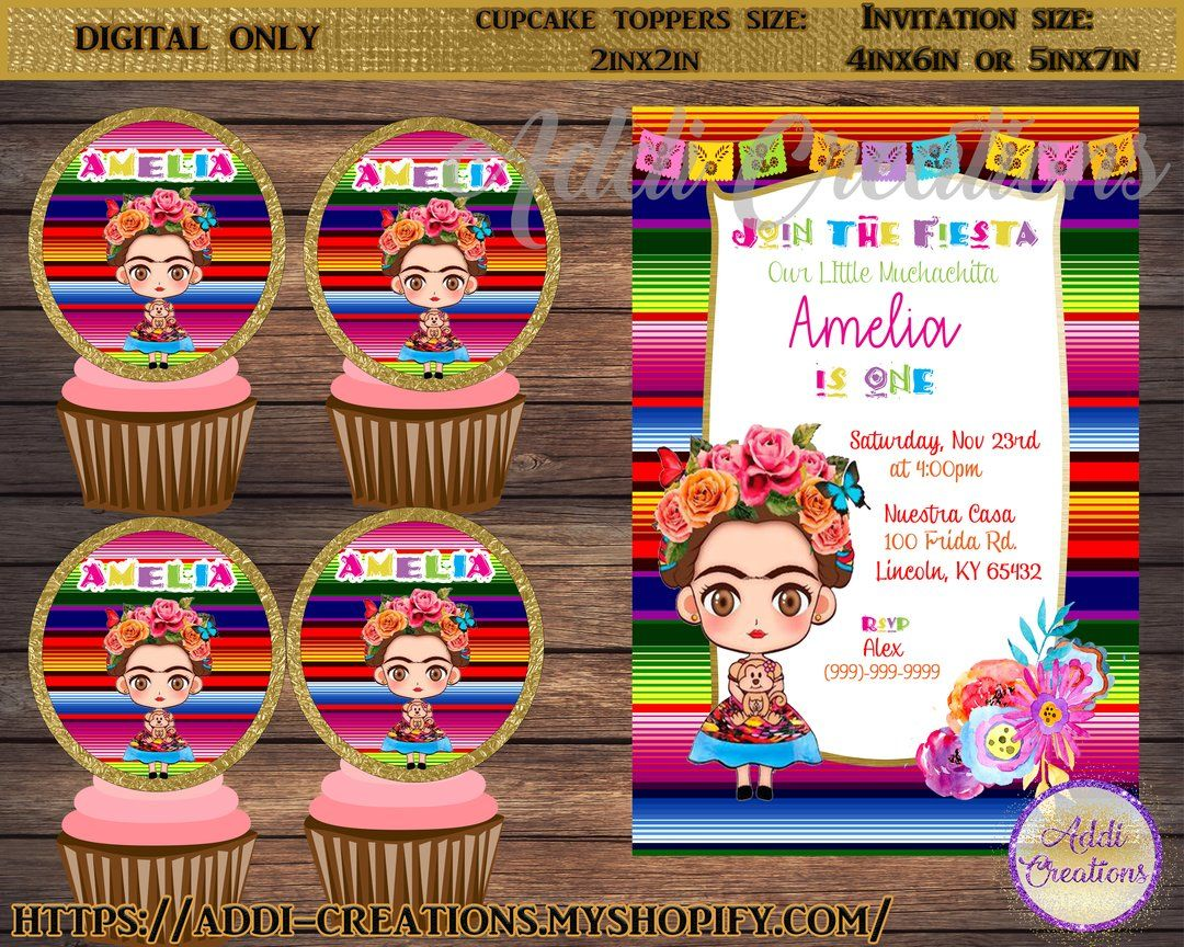 Frida Kahlo Invitations, Frida Kahlo Birthday Invitations.