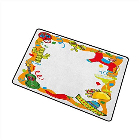 Amazon.com : Sillgt Fiesta Welcome Doormat Cartoon Drawing.
