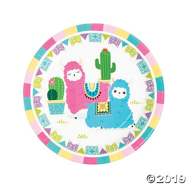 Fiesta Baby Cactus Paper Dinner Plates.