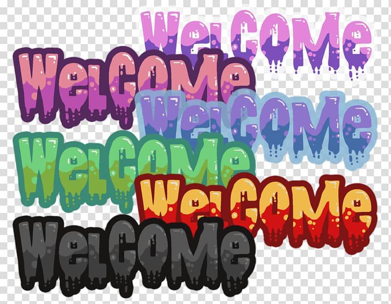 Logo Brand Font, Welcome sign transparent background PNG.