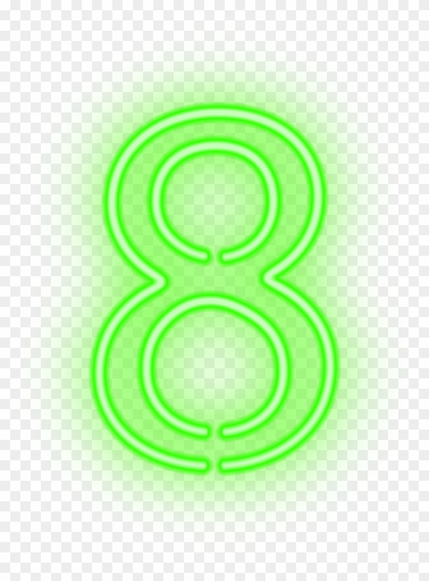 Eight Neon Green Png Clip Art Image, Transparent Png.