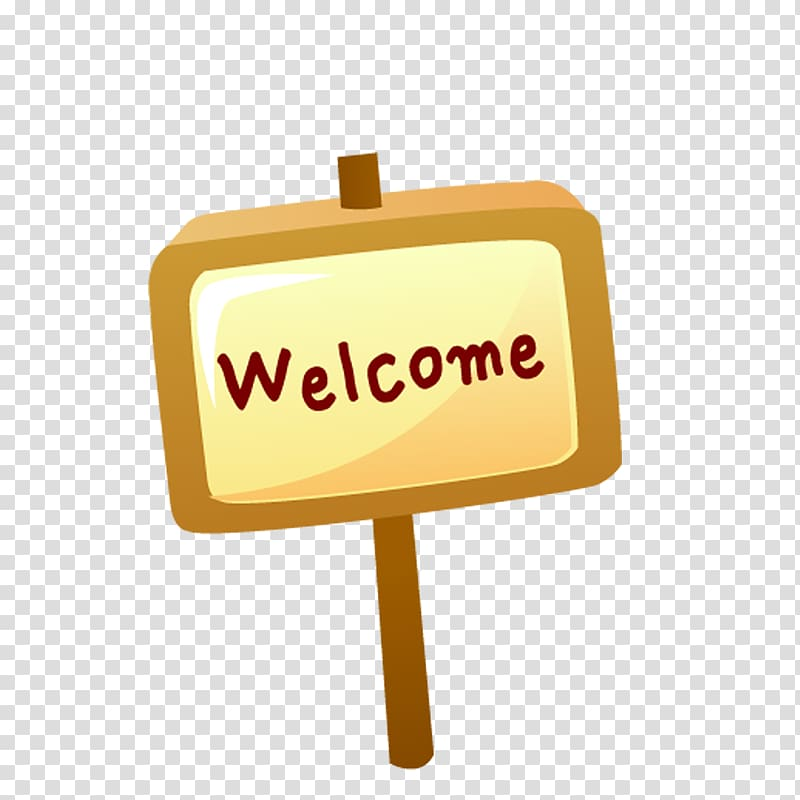 Welcome sign , welcome transparent background PNG clipart.