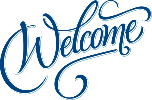 Welcome Text Sign transparent PNG.