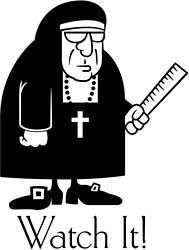 Image result for clipart nun ruler.