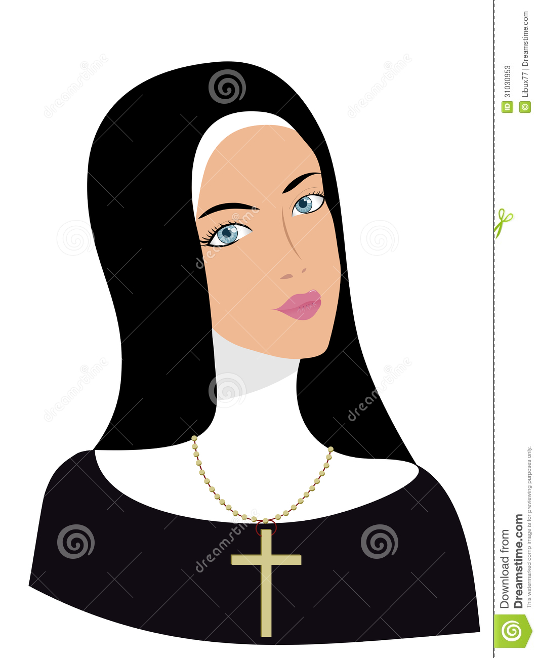 Picture Of A Nun Clipart.