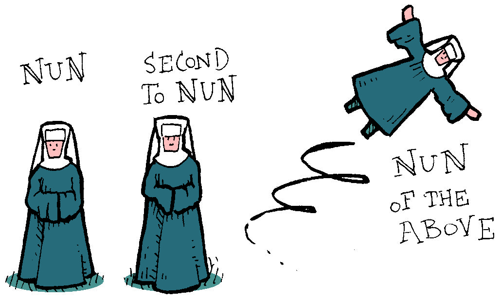 Cartoon Nun.