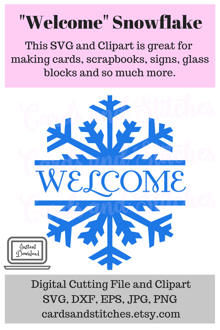 Welcome Snowflake SVG, Great for Electronic Cutting Machines.