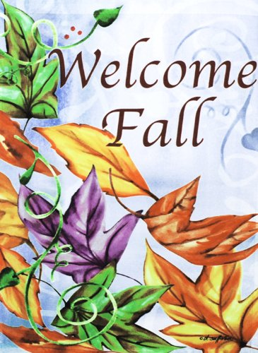 Breezy Leaves Welcome Fall Flag Large 28\