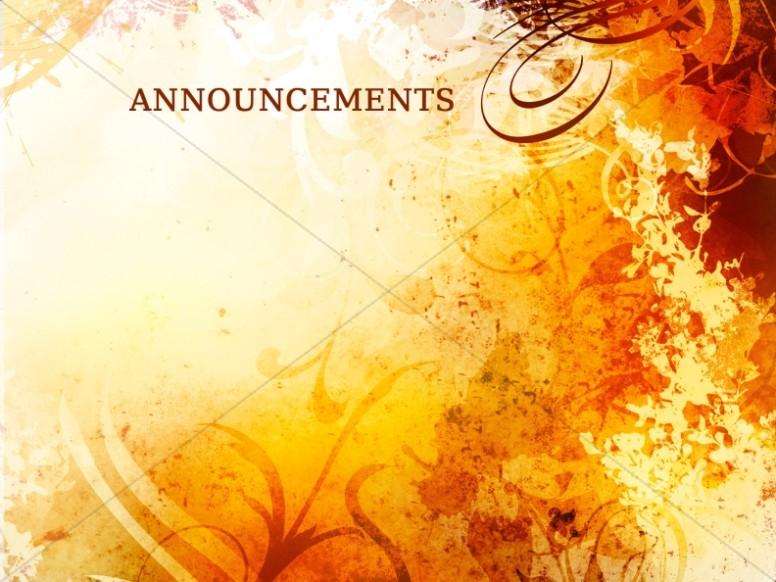 Fall Church Announcements Slide.