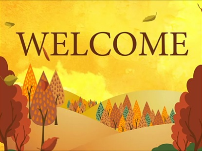 Welcome Fall Clipart.