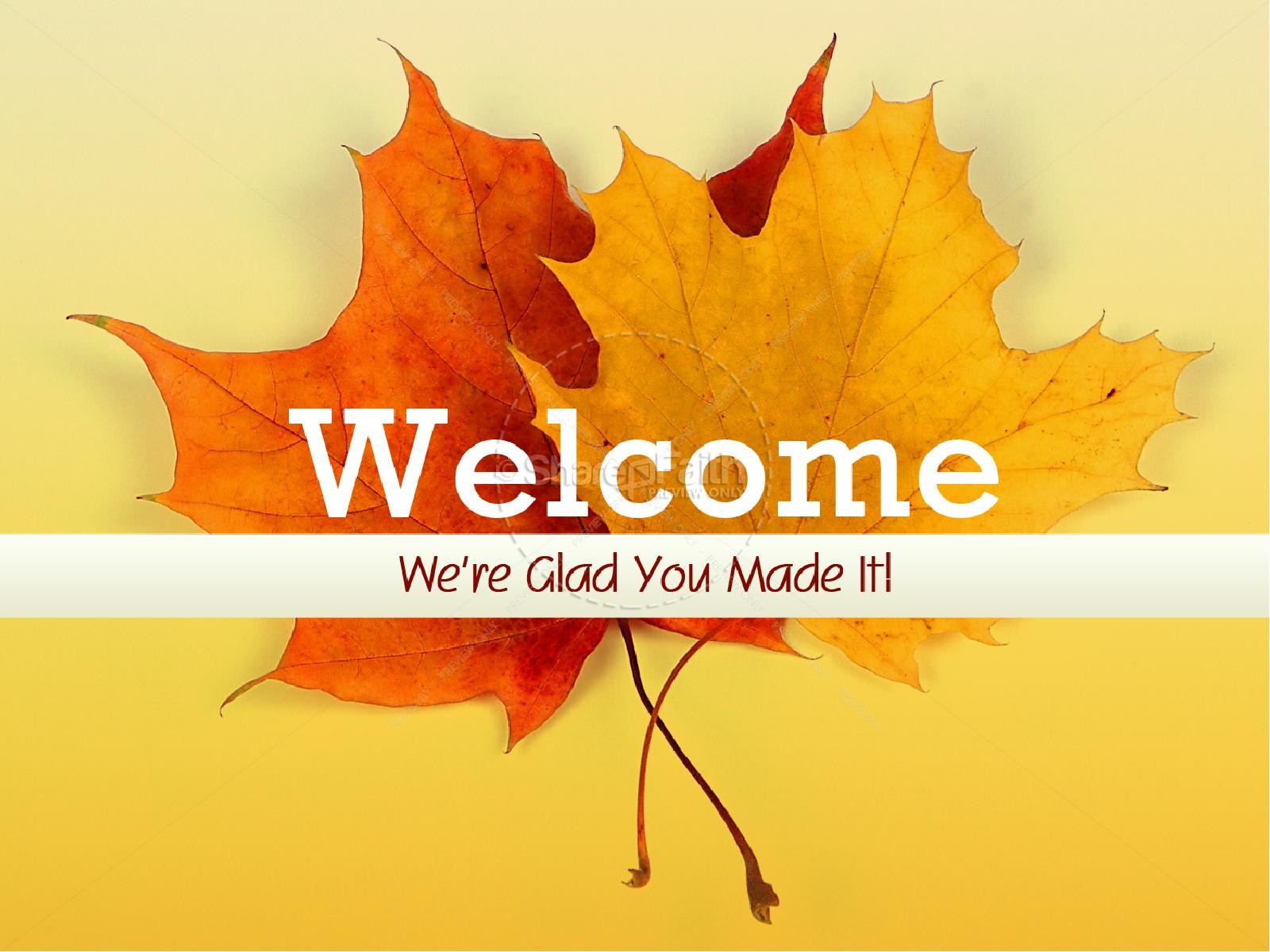 Welcome Fall Sermon PowerPoint.