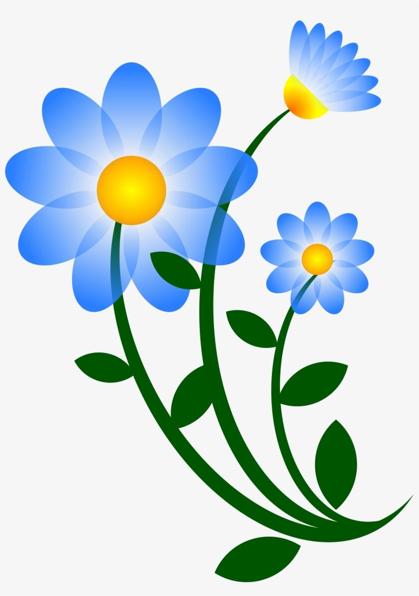 Blue Flower Clipart Spring Flower.