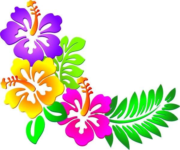 Beach Flowers Clipart.