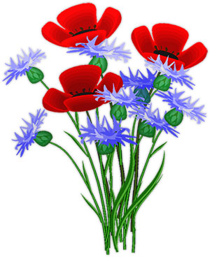 Welcome Flowers Clipart.