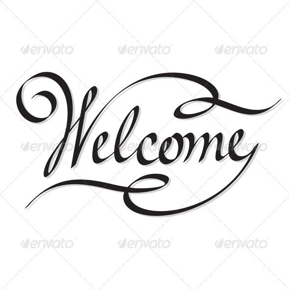 Welcome Hand Lettering.