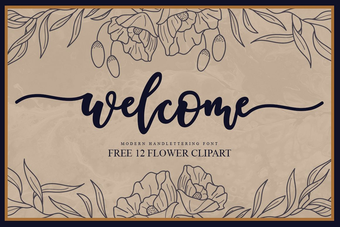 Welcome Handlettering Font.