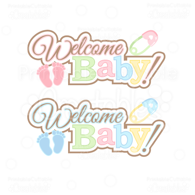 Welcome Baby Girl Clipart.