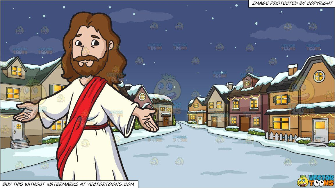 clipart #cartoon Jesus Christ Opening His Arms To Welcome.