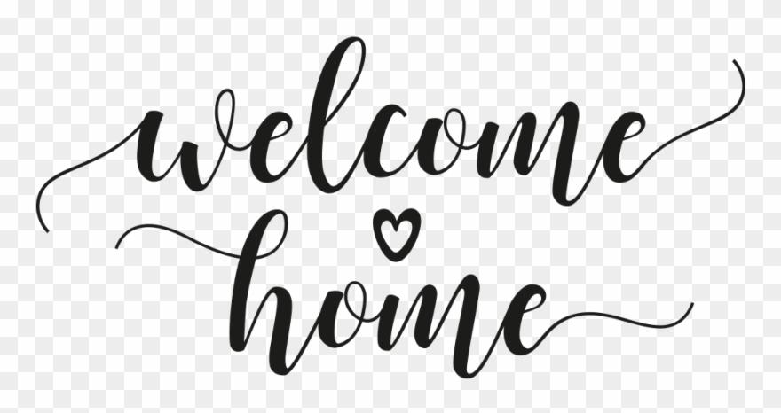 Wandtattoo Welcome Home Mit Herz.