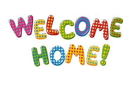 5,560 Welcome Home Stock Vector Illustration And Royalty Free.