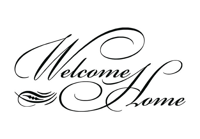 Welcome home clipart free.