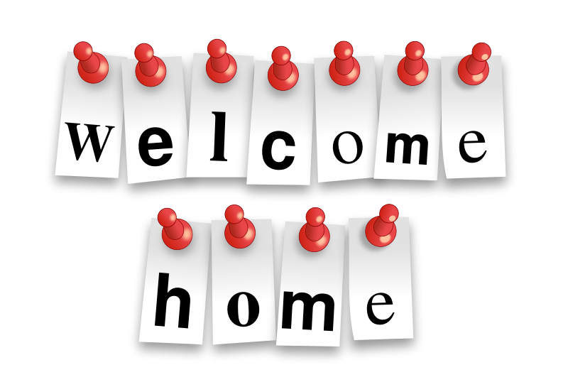Free Clipart: Welcome Home Notes.