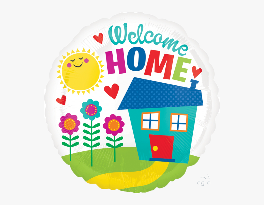 Welcome Home Foil Balloon , Free Transparent Clipart.
