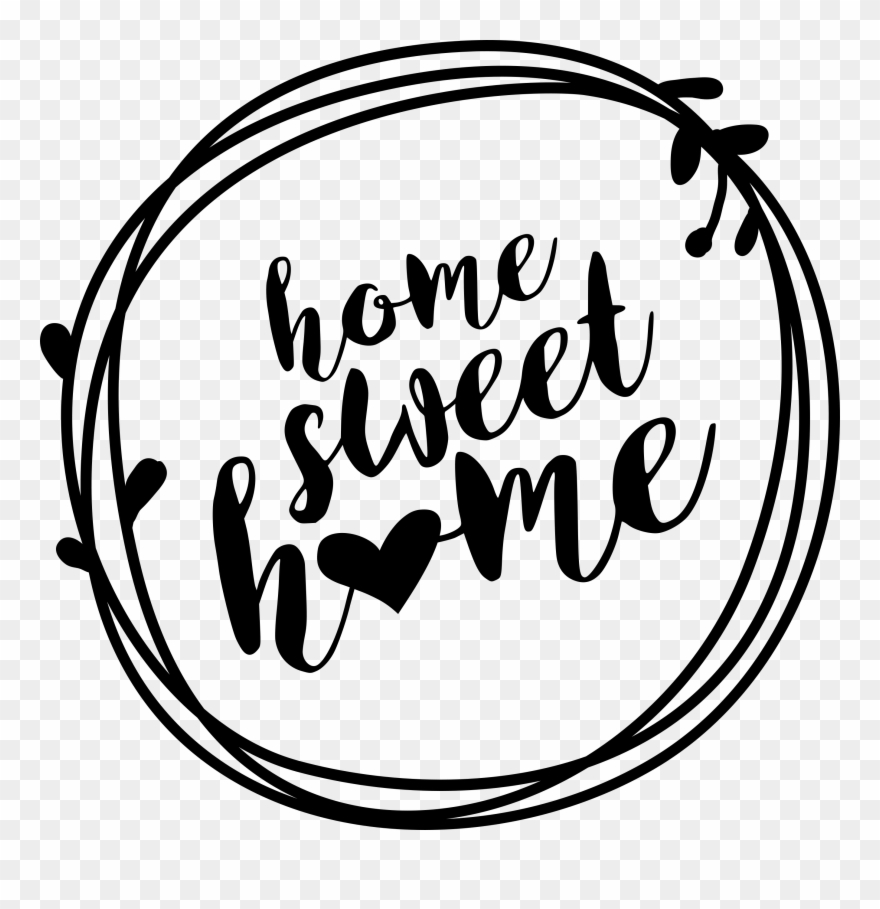 Home Sweet Home Wreath Printable Sign.