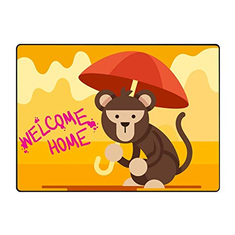 Amazon.com : KSLIDS Custom Doormats Funny Monkey Welcome.