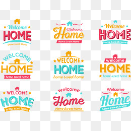 Welcome Home Png, Vector, PSD, and Clipart With Transparent.