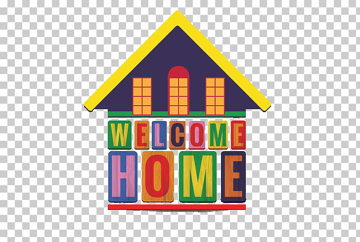 Illustration, Welcome home sweet home PNG clipart.