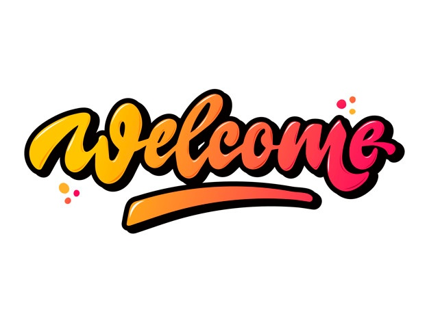 Welcome word composition in different languages Vector.