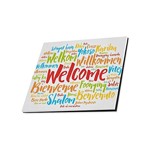 Amazon.com: ENEVOTX Wall Art Painting Welcome Word Cloud.