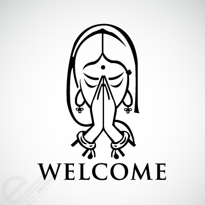 Welcome hand Logos.
