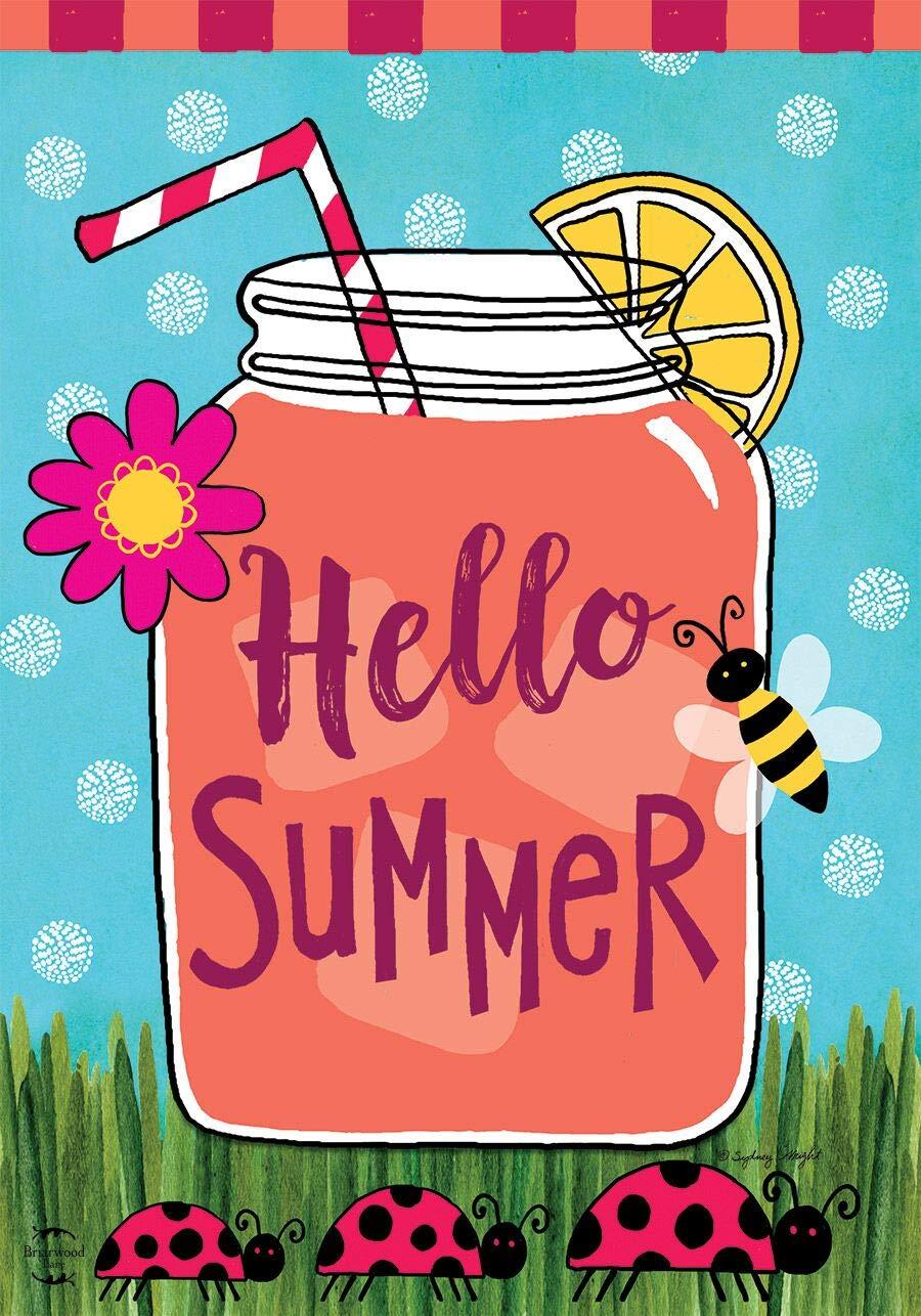 Briarwood Lane Welcome Summer Lemonade Garden Flag Mason Jar 12.5\