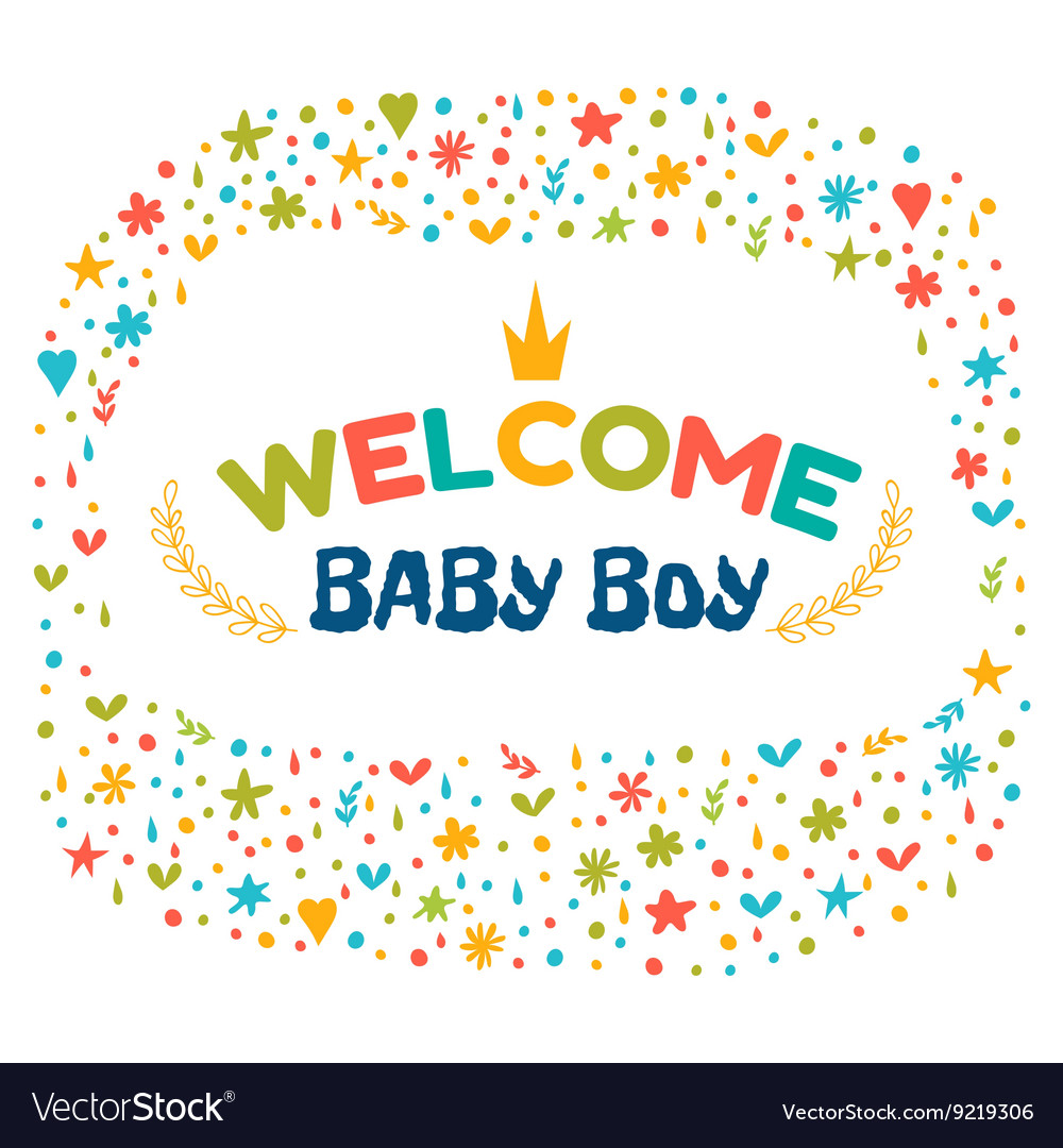 Baby boy shower card Welcome baby boy Baby boy.