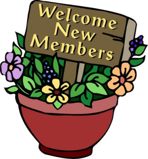 Welcome New Members Clipart.