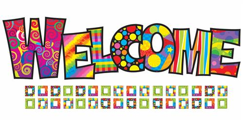 Welcome New Students Clipart.