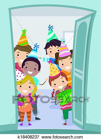 Welcome Party Kids Clip Art.