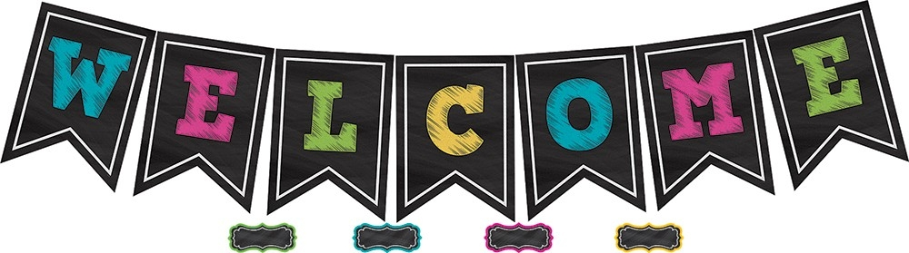 welcome pennant banner clipart #6