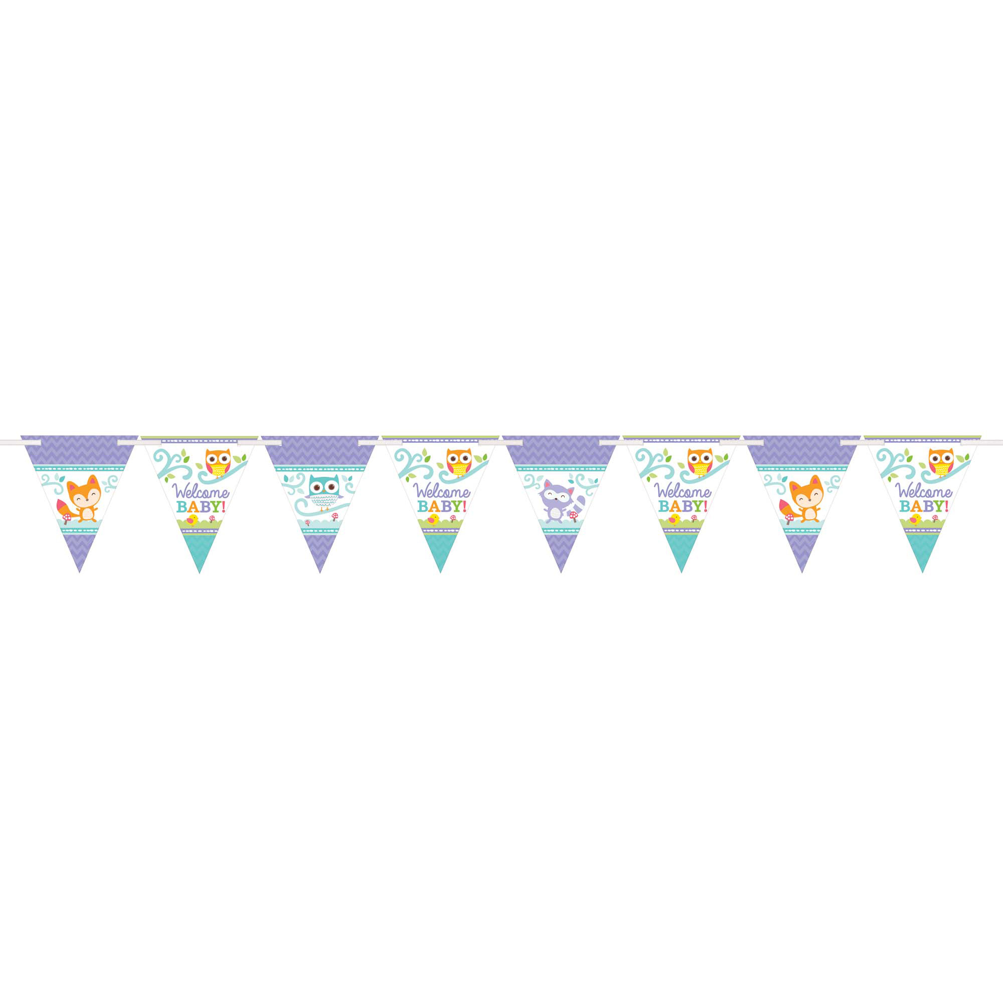 Woodland Welcome Baby Pennant Banner.