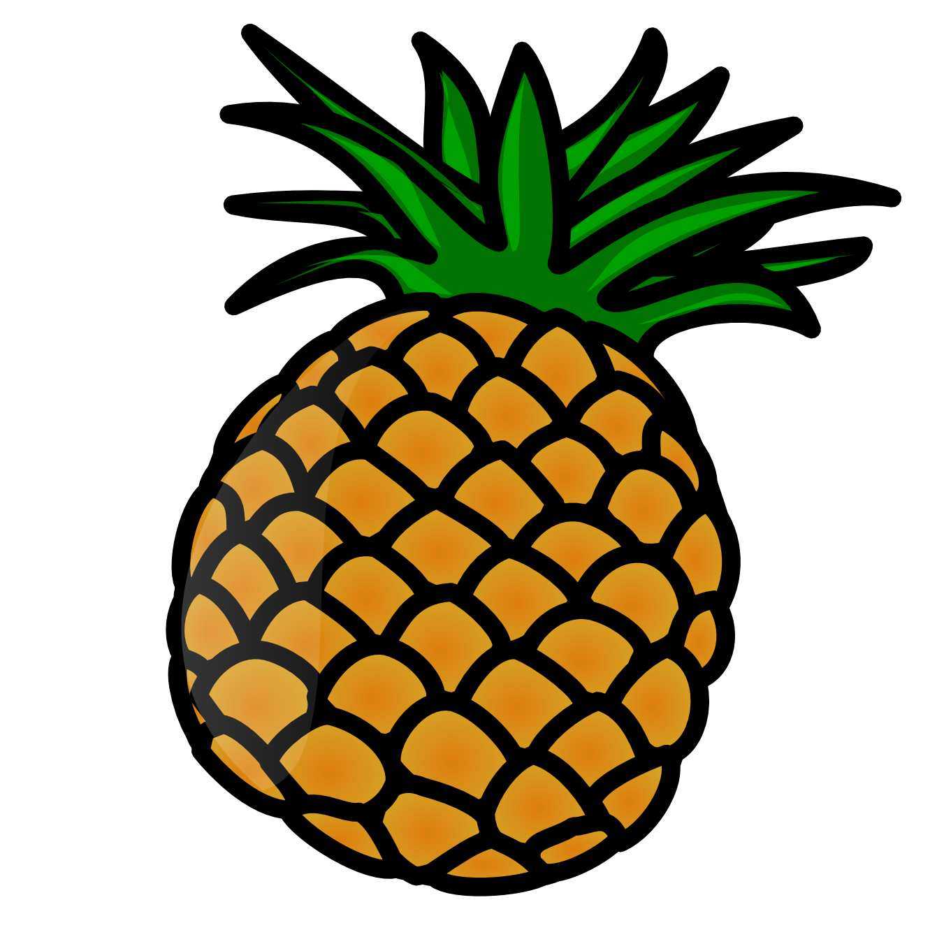 Welcome pineapple clipart black and white free 2.