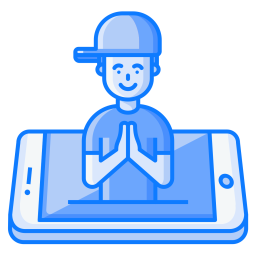 Mobile, Namste, Greeting, Welcome, Concept, Culture, Tradition Icon.