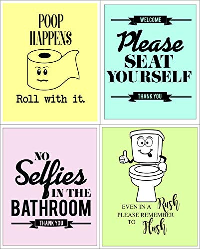 Chd Graphic Learning Funny Quotes and Sayings Bathroom Decor Unframed Wall  Art Print (Paper, 8x10.