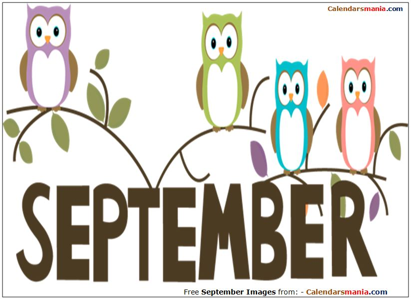 Welcome September Clipart.