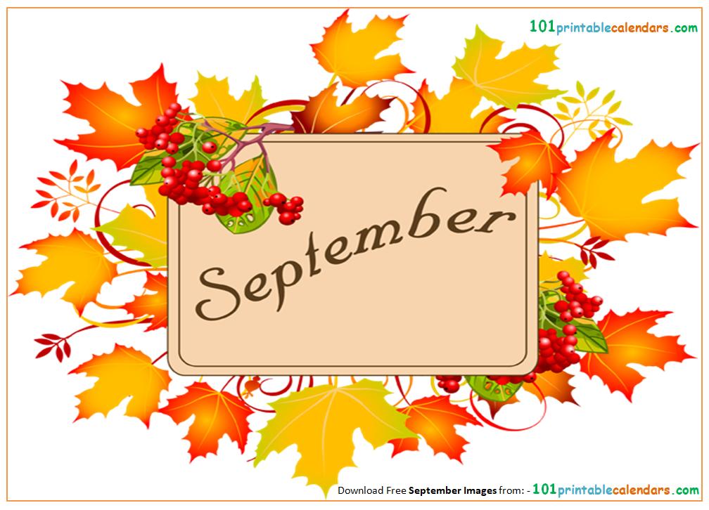 September Month Clipart.