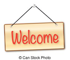 Welcome sign Vector Clipart Royalty Free. 44,500 Welcome sign clip.