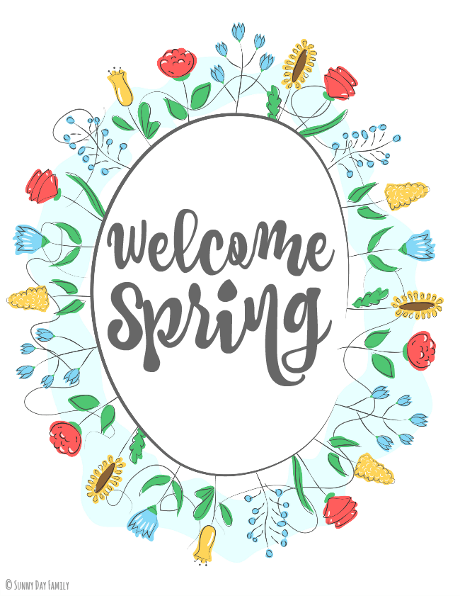 Welcome Spring: Free Printable Wall Art.