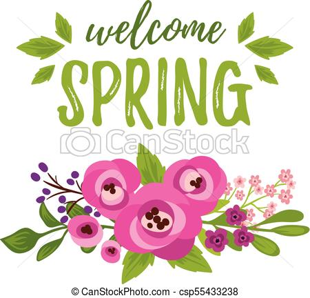 Welcome Spring card.